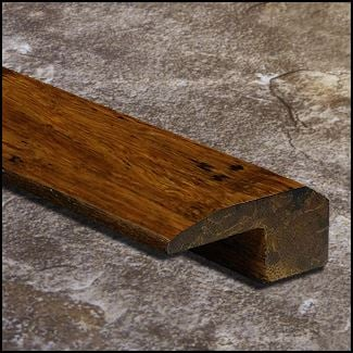 Strand Bamboo Threshold Endcap Carbonized Antiqued  T