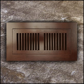 Vent Cover Flush Mount Bamboo4x10 Espresso Distressed  T