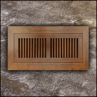 Vent Flush Mount Bamboo4x10 Carbonized Antiqued  T