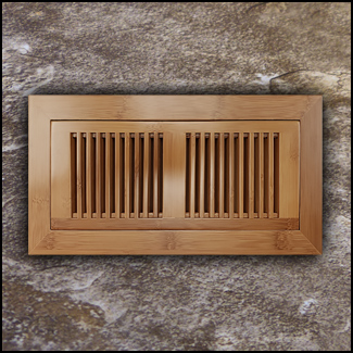 Vent Flush Mount Horizontal Bamboo4x10 Carbonized  T
