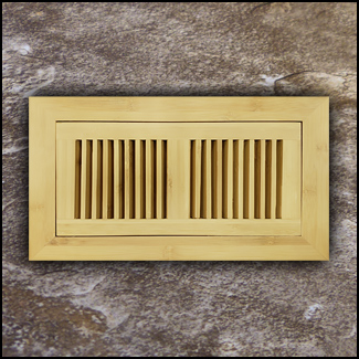 Vent Flush Mount Horizontal Bamboo4x10 Natural  T