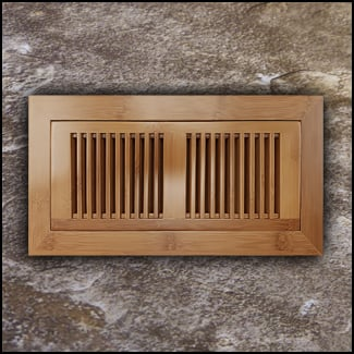 Vent Flush Mount Horizontal Bamboo4x12 Carbonized  T
