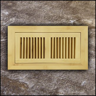 Vent Flush Mount Horizontal Bamboo4x12 Natural  T