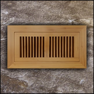 Vent Flush Mount Vertical Bamboo4x10 Carbonized  T