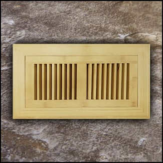 Vent Flush Mount Vertical Bamboo4x12 Natural T