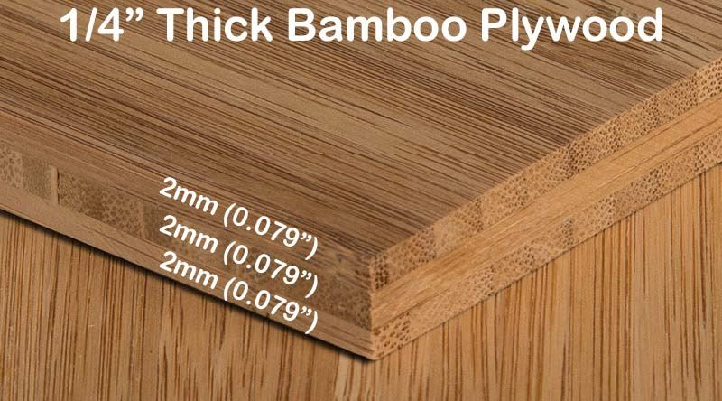 Carbonized Vertical Edge Grain Bamboo Plywood Diagram