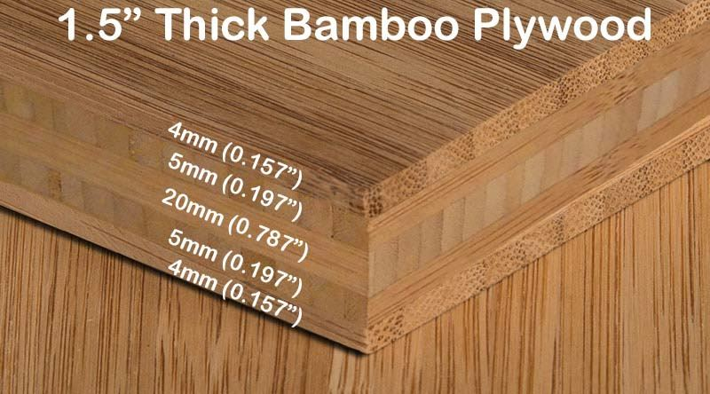 Carbonized Vertical Edge Grain Bamboo Plywood Diagram2