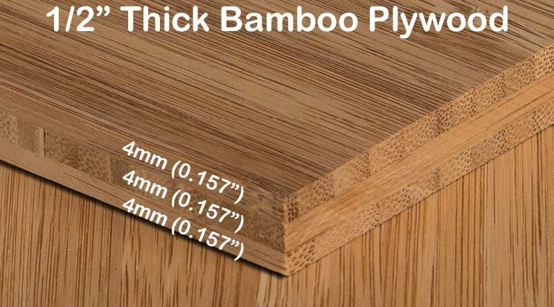 Carbonized Vertical Edge Grain Bamboo Plywood Sheet Diagram