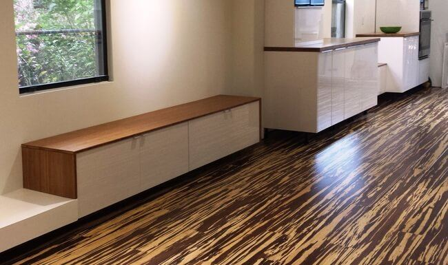 Carbonized Vertical Edge Grain Finished Bamboo Plywood Sheet Installation3