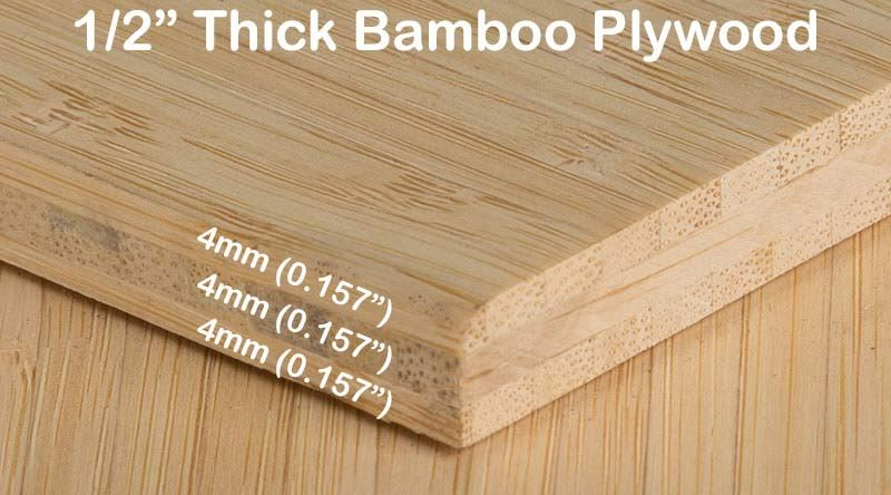Natural Vertical Bamboo Plywood Hardwood Sheet Diagram