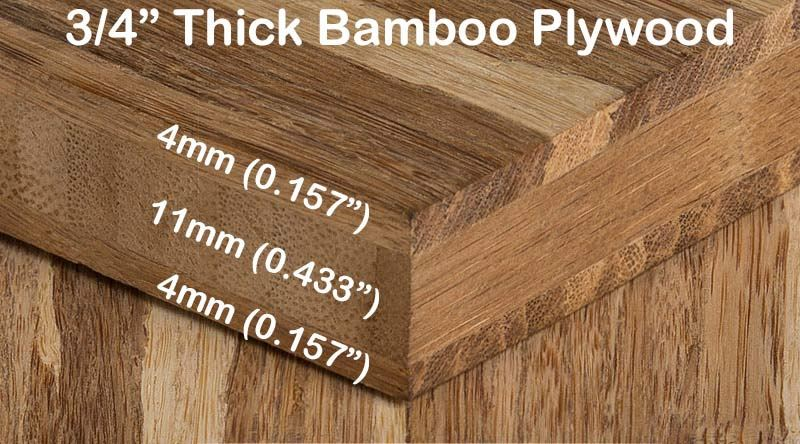 Strand Tiger Bamboo Hardwood Plywood Sheet Diagram3