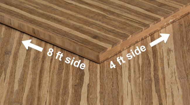 Strand Tiger Unfinished Bamboo Hardwood Plywood Sheet Angle