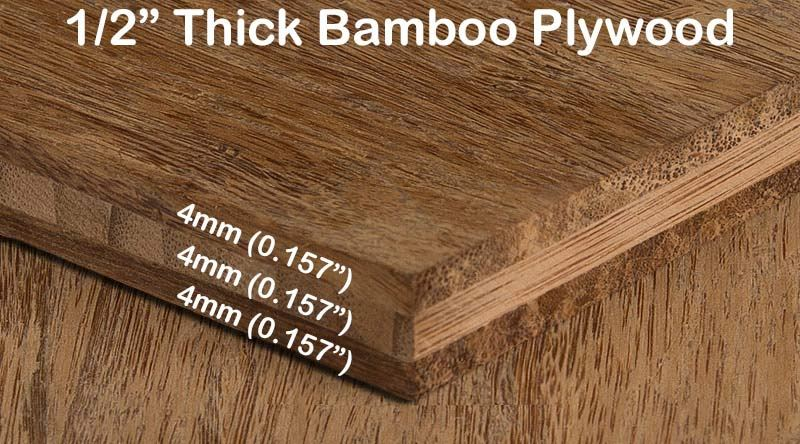 Bamboo Pywood - 1/2 in Unfinished Carbonized Strand