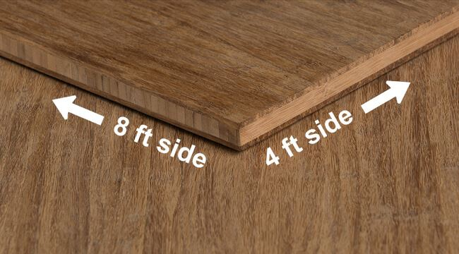Strand Woven Carbonized Unfinished Bamboo Plywood Hardwood Sheet Angle