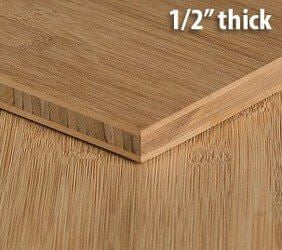 Carbonized Horizontal Flat Grain Bamboo Plywood Sheet Thumb1 2 Inch