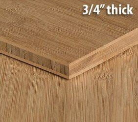 Carbonized Horizontal Flat Grain Bamboo Plywood Sheet Thumb3 4 Inch
