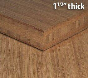 Carbonized Vertical Edge Grain Unfinished Bamboo Plywood Sheet Thumb1 1 2 Inch