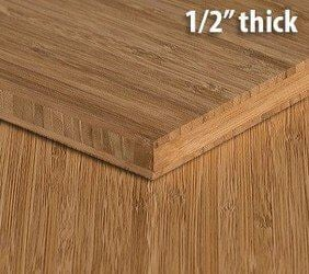 Carbonized Vertical Edge Grain Unfinished Bamboo Plywood Sheet Thumb1 2 Inch