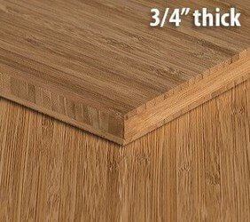 Carbonized Vertical Edge Grain Unfinished Bamboo Plywood Sheet Thumb3 4 Inch