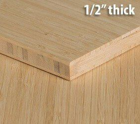 Natural Vertical Unfinished Bamboo Plywood Hardwood Sheet Thumb1 2 Inch