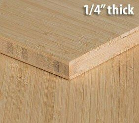 Natural Vertical Unfinished Bamboo Plywood Hardwood Sheet Thumb1 4 Inch