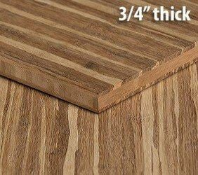 Strand Tiger Unfinished Bamboo Hardwood Plywood Sheet Thumb3 4 Inch
