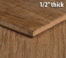 Strand Woven Carbonized Unfinished Bamboo Plywood Hardwood Sheet Thumb1 2 Inch