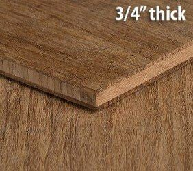 Strand Woven Carbonized Unfinished Bamboo Plywood Hardwood Sheet Thumb3 4 Inch