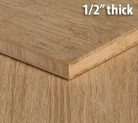 Stranded Natural Unfinished Bamboo Hardwood Plywood Sheet Thumb1 2 Inch