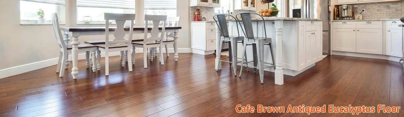 Cafe Brown Antiqued Eucalyptus Flooring