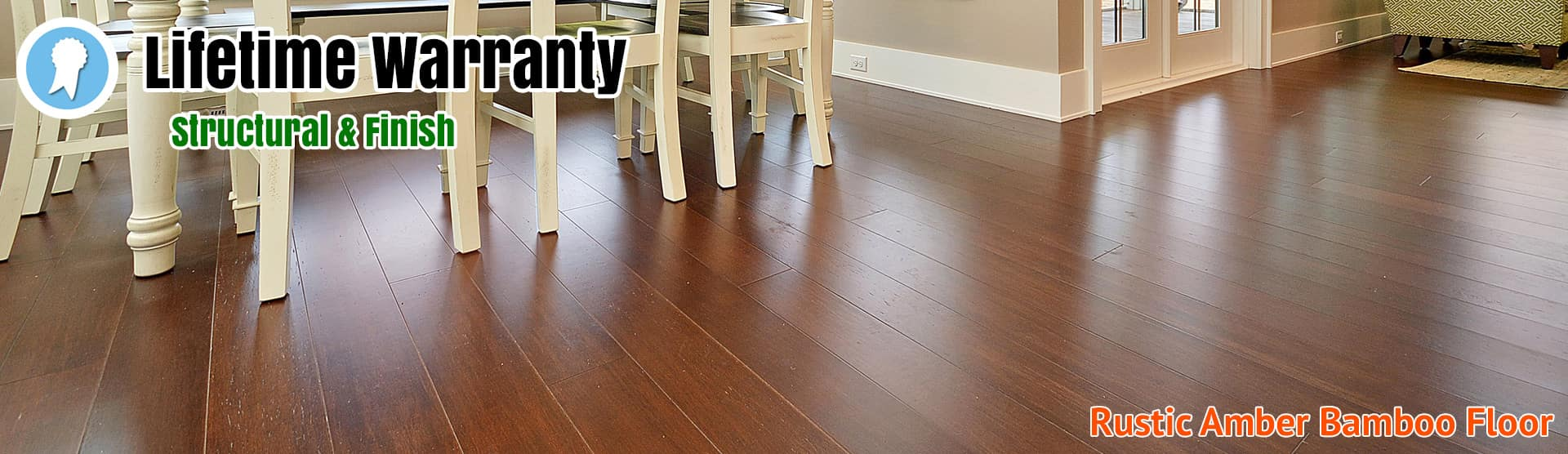 Bamboo Flooring Rustic Amber Wire Brushed