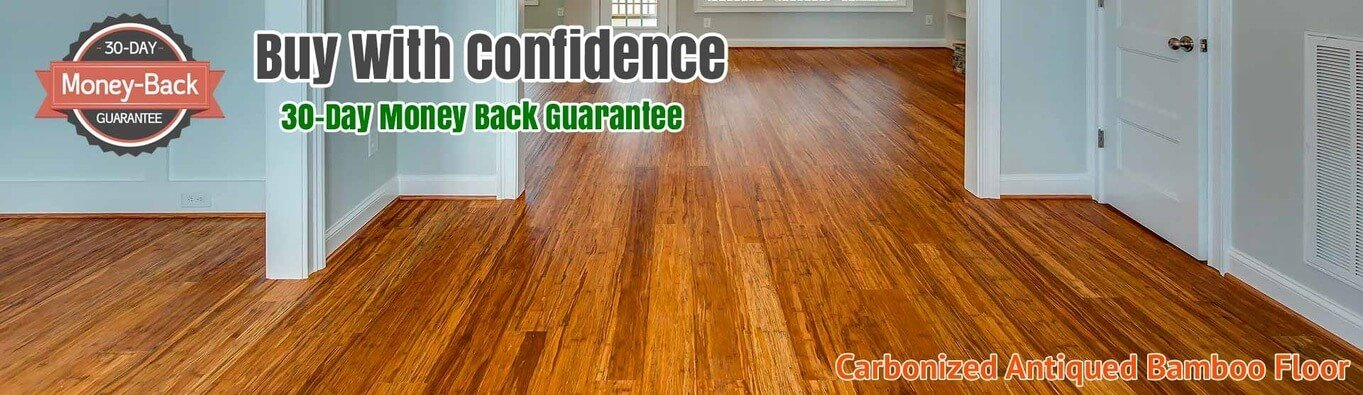 Hardwood Bamboo Flooring Carbonized Antiqued